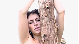 Pretty young girl nude on the whipping post-Myriam