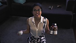 See through Anna Akana's cats review wine.