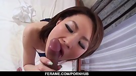 Impressive Asian POV sex with busty Miki Uemura