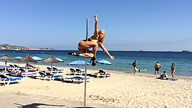 Pole dance beach