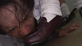 asian feet worship shoe worship slap spit