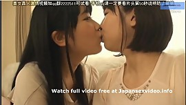 Cute Japanese Lesbian Teen Couple in Love