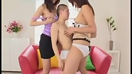 Tall Japanese Girls - little man 1