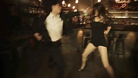Sexy asian girl taekwondo in bar ( gif of a good friend )