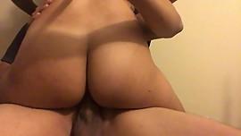 Big Booty Hottie Rides A Big Dick