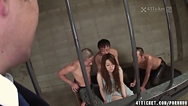 Miu Aizaki's Jail Cell Gangbang (Uncensored JAV)