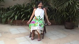 Asian tied outside