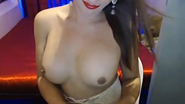 Pretty and Busty Goddess strips to show sexy body