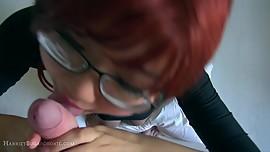 Busty cute UK asian redhead blowjob