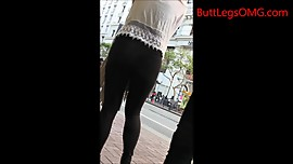 Candid Asian in Tights