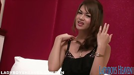 Hot Thai Tgirl Teaser with Sexy Mini