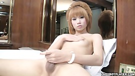 Cherry Asian Shemale Ladyboy in A Slice of Cherry Penis Pie