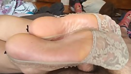 asian good sexy socks footjob