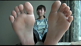 Asian Nylon to bare soles Exposed