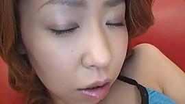 Koharu fondles big boobs before is drilled in hairy fish taco