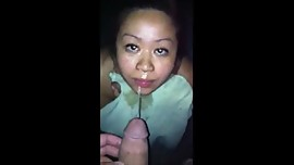 Asian girlfriend slut pissed on