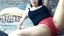 Mature In Red Panties