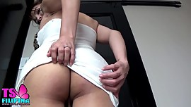 TS Filipina Busty Brunette Asian Shemale