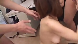 Jun Kusanagi gets nasty on cock while at work