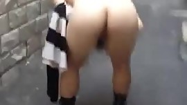 Performing his chinese slutty wife in public 3