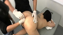 Extreme anal fisting examination
